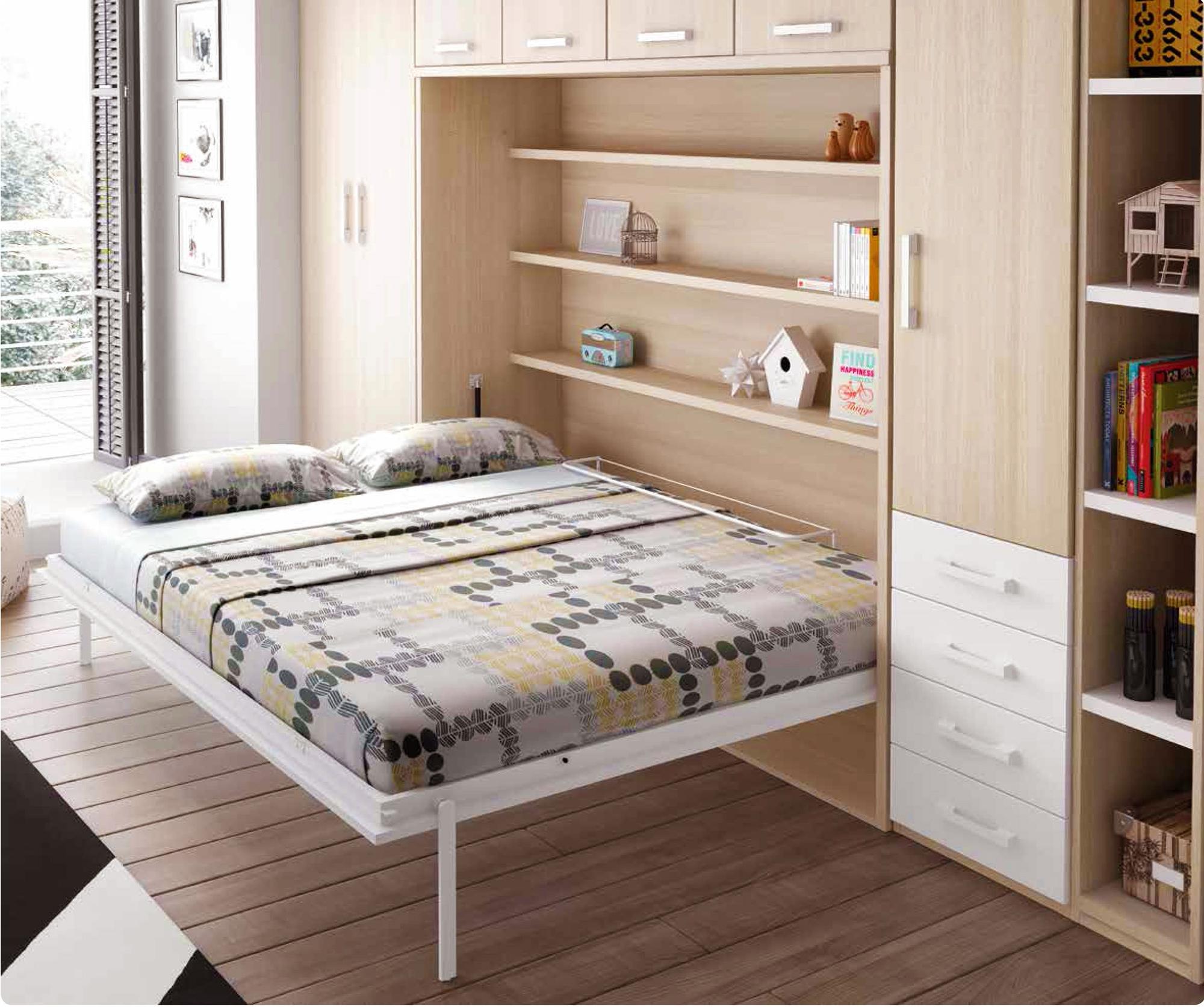 Chambre Avec Lit Armoire Escamotable Horizontal GLICERIO