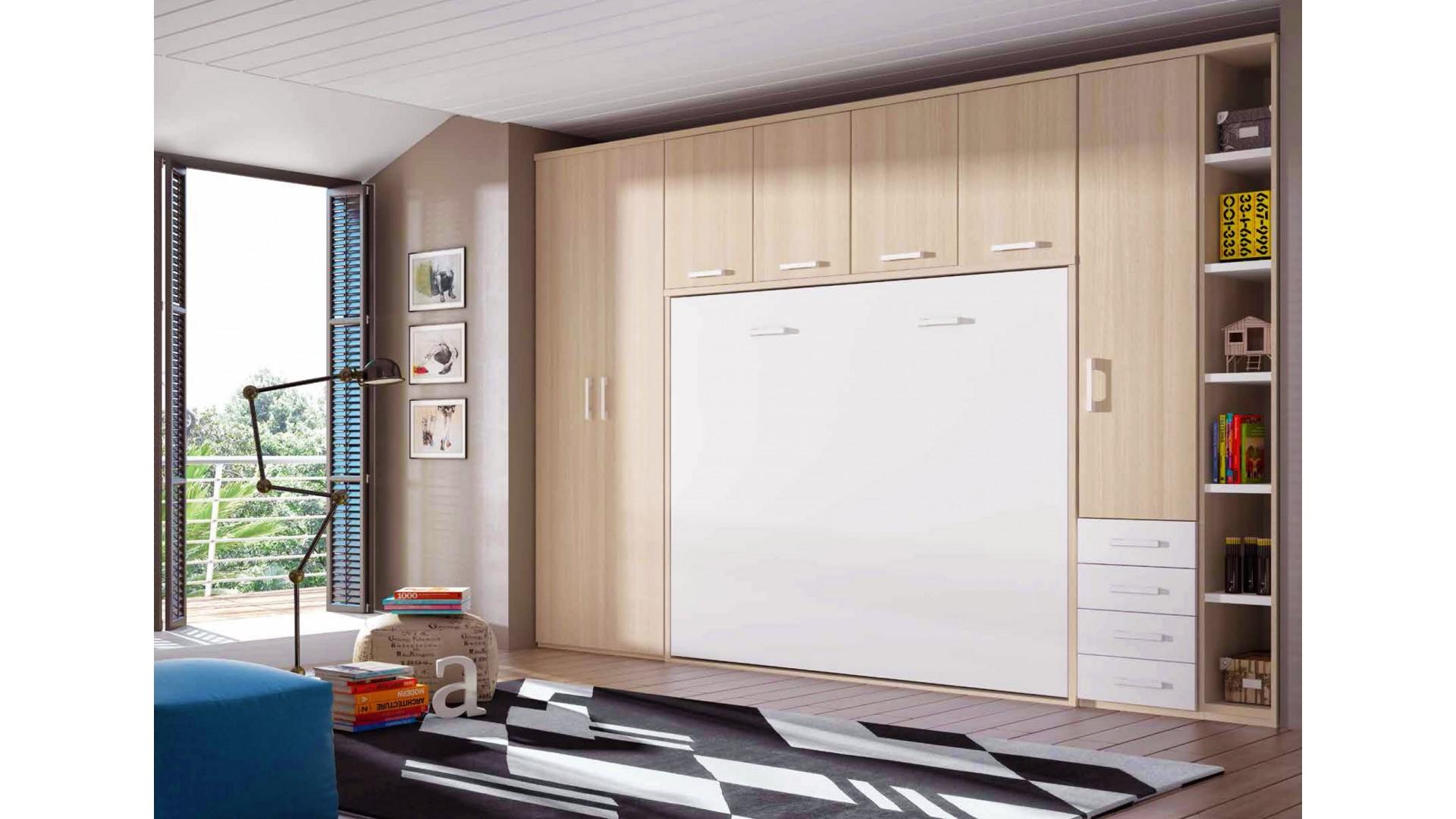 chambre avec lit armoire escamotable personnalisable f365 glicerio
