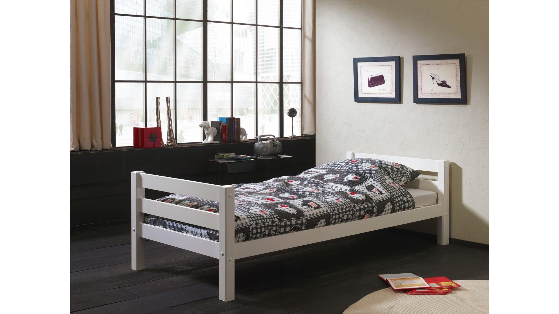 lit enfant bois massif copenhague 90x200 cm sonuit