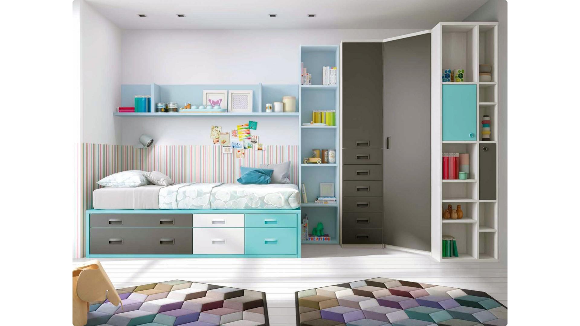 chambre ado garcon avec lit gigogne personnalisable f078 glicerio
