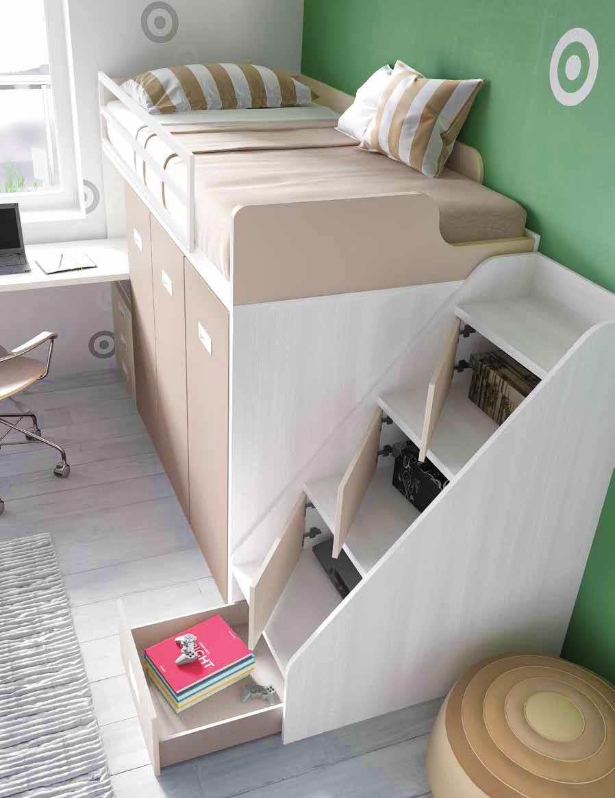 Lit Mezzanine Avec Bureau Moderne Et Fun GLICERIO SO NUIT