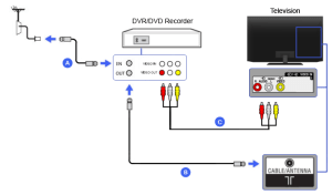 Composite  DVR  DVD Recorder | BRAVIA TV Connectivity Guide