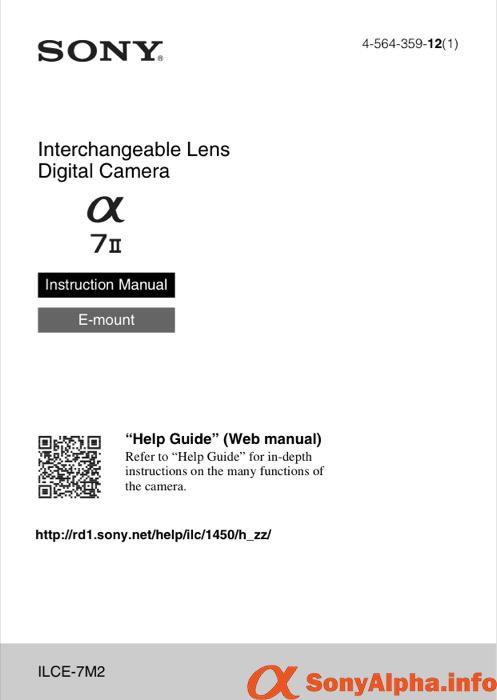 Sony Alpha A7 Mark II User Manual