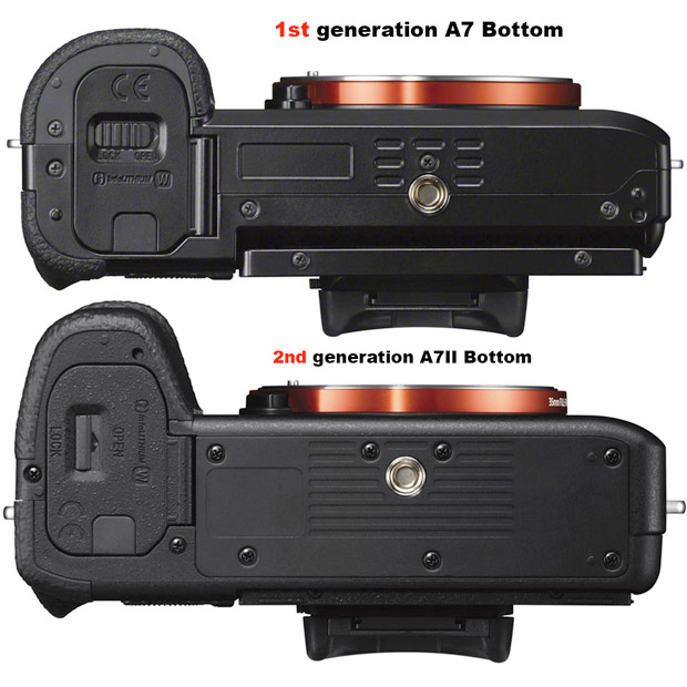 A7 Vs A7 II - Bottom