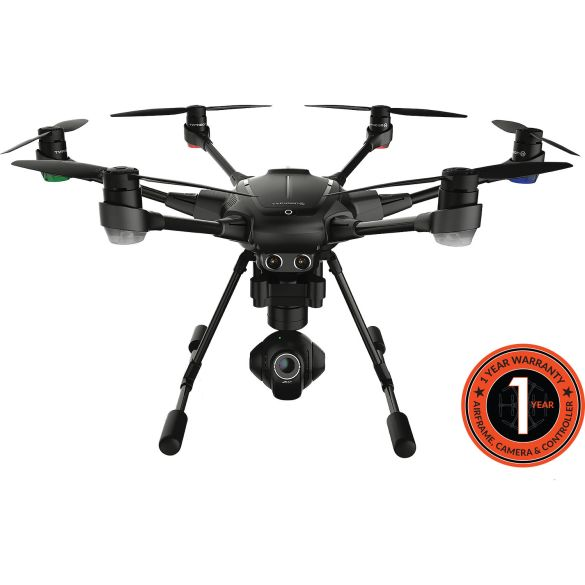 YUNEEC Typhoon H Hexacopter with Intel RealSense, GCO3+ 4K Camera, Wizard Wand, and Backpack