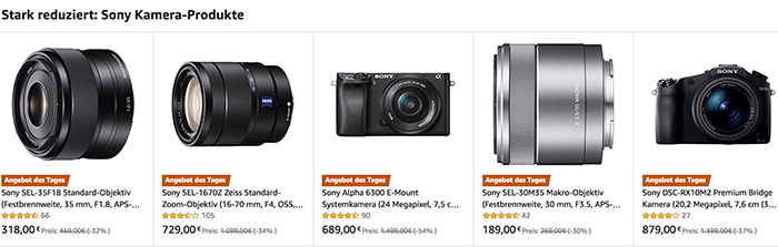 Deal Of The Day Amazon Germany Offers Unique Discounts On The 16 70mm Zeiss 35mm F 1 8 A6300 30mm Macro And Rx10m2 Sonyalpharumors