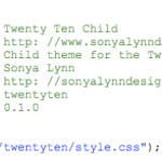 Twenty Ten Child Theme