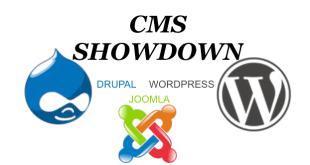 The CMS Showdown - Drupal, Joomla and WordPress