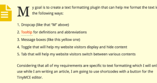 WordPress Plugin Development Goal