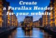 Create a Parallax Header