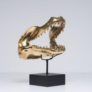 Sooka Interior Bronze Shark Jaw Sculpture