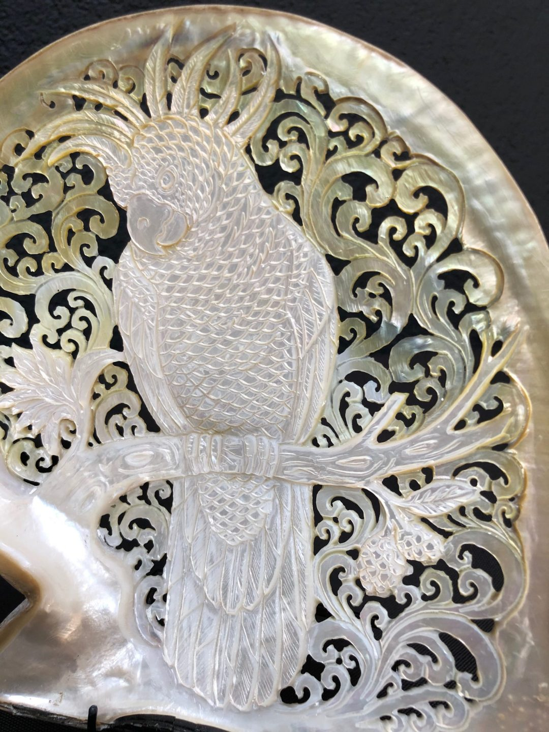 Carved Mother of Pearl Shell