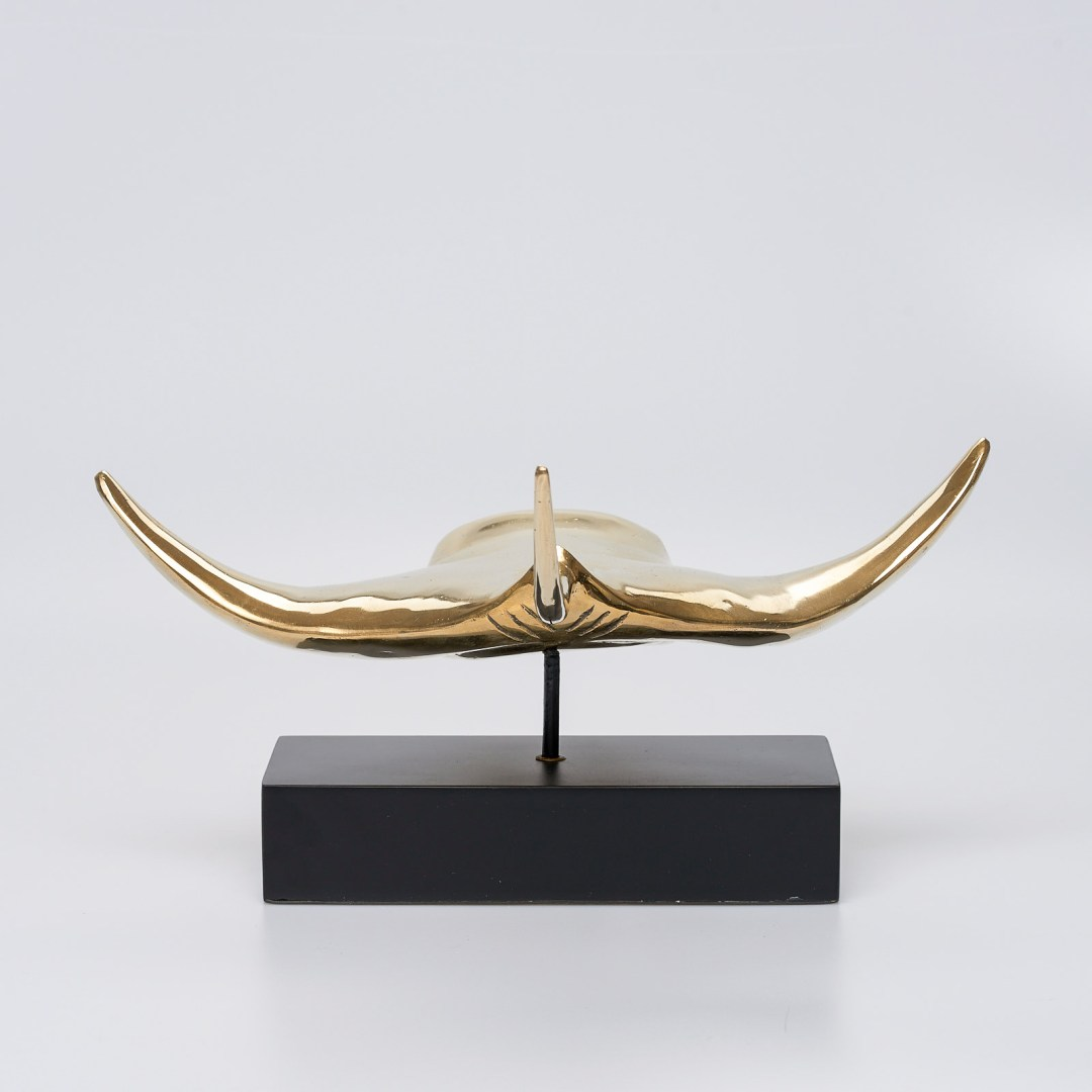 Large Polished Bronze Manta Ray