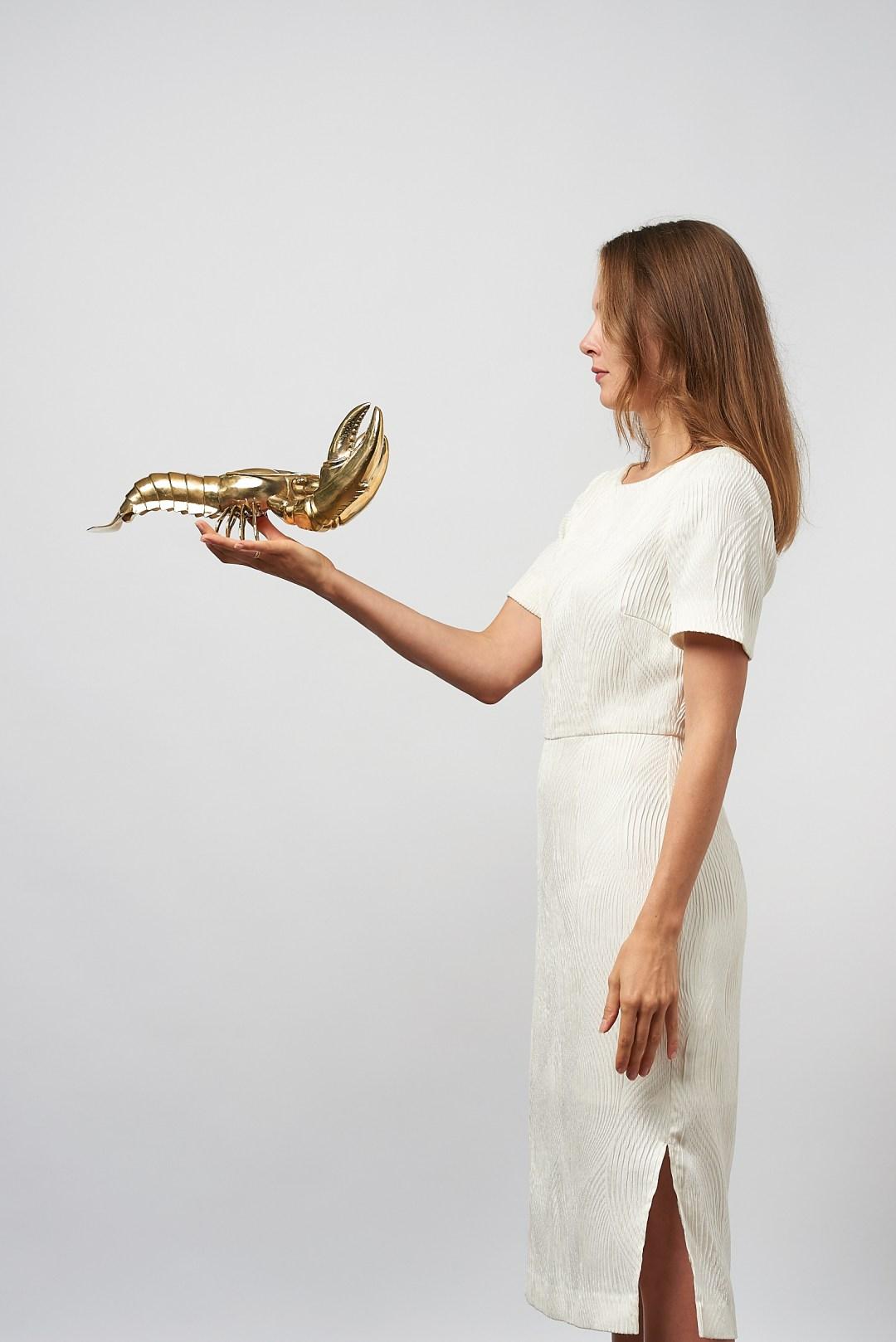 lobster in polished bronze