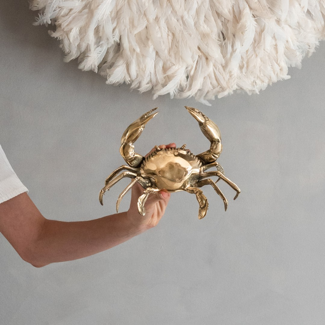 crab in polished bronze, small