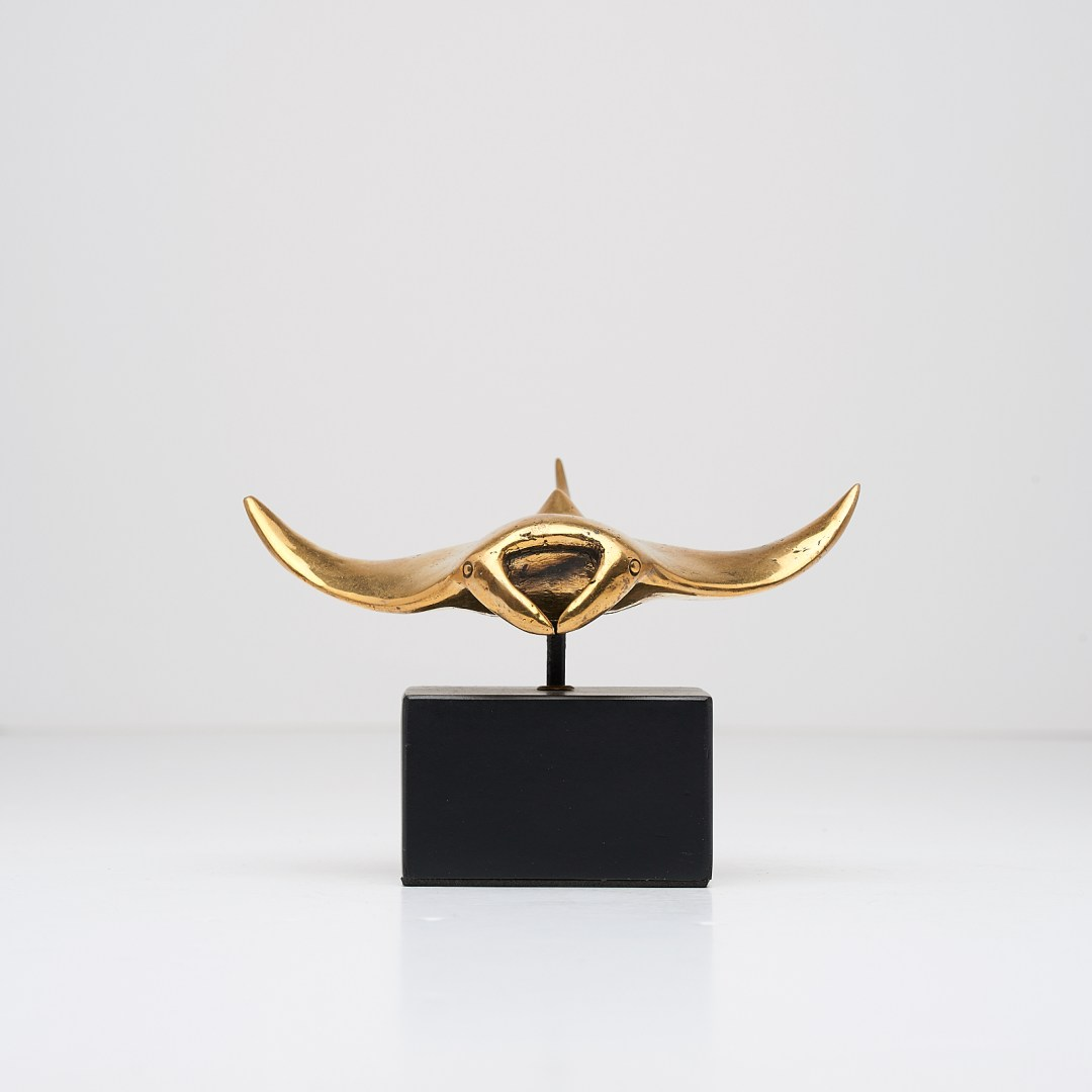 Manta Ray in polished bronze, Small