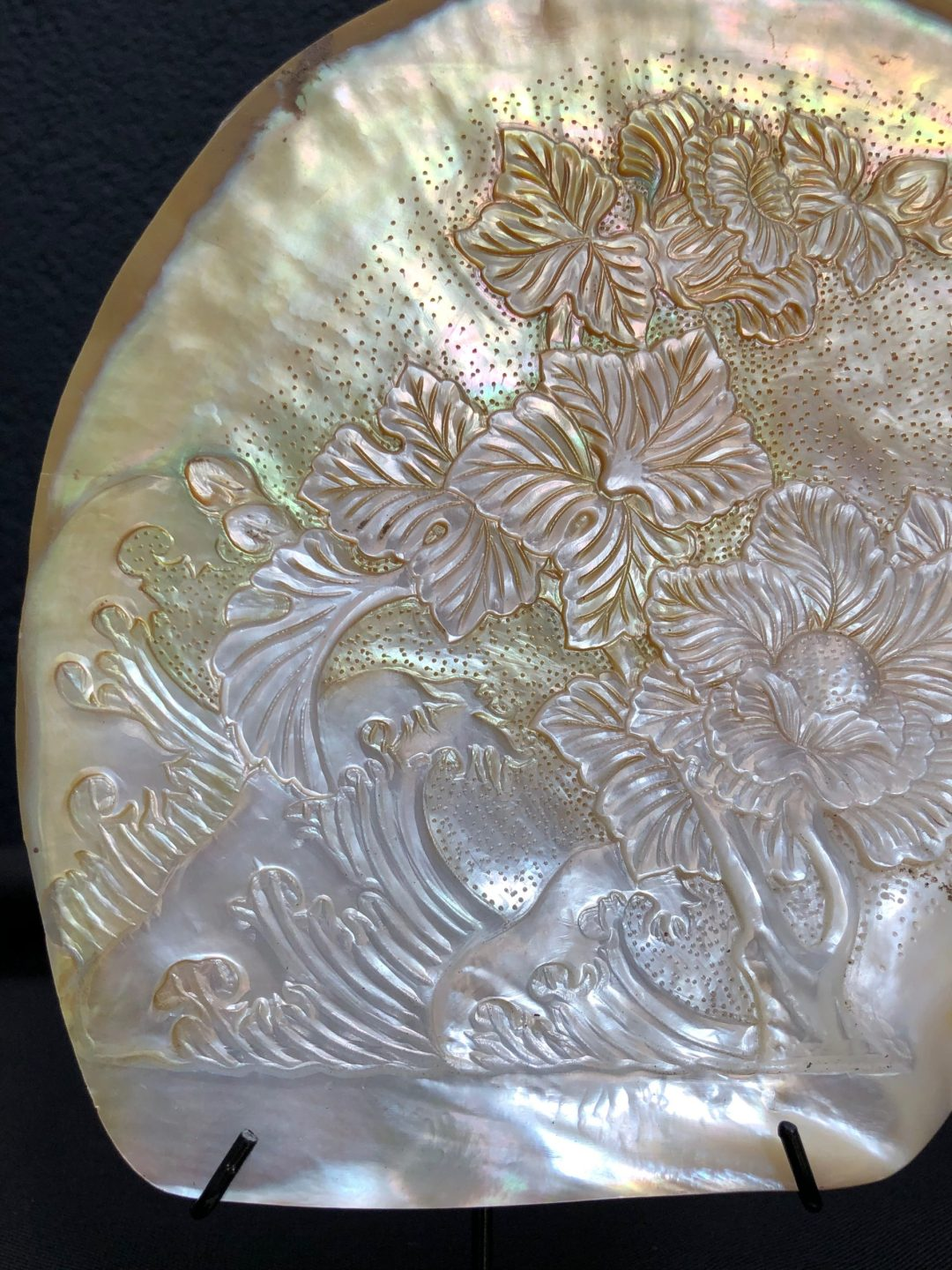 Carved Mother of Pearl Shell Hummingbird II