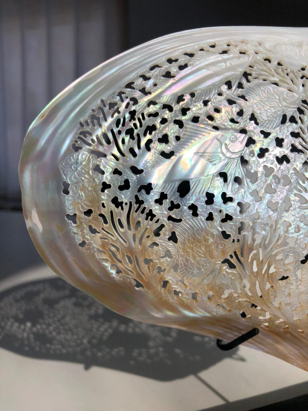 Carved Mother of Pearl Shell Marine Life