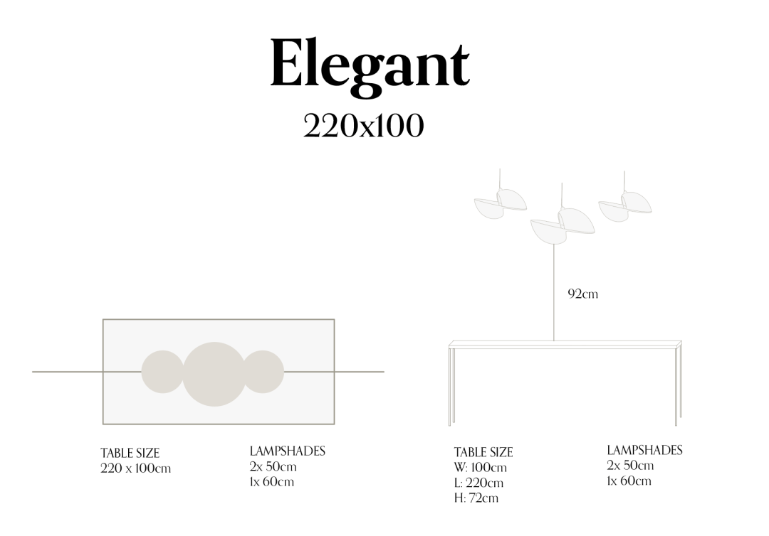 Elegant 220x100