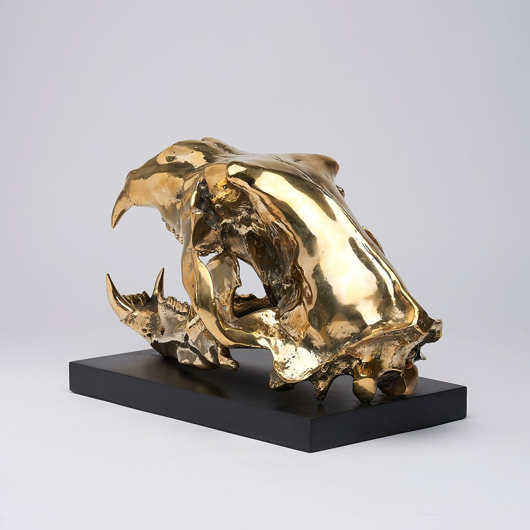 Polar Bear Sculpture in polished bronze