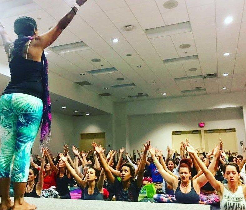 Teaching Chakra Healing at the Yoga Expo