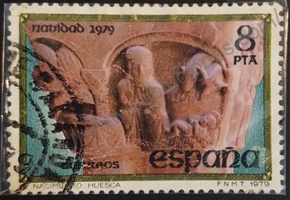 Sello España 1979 Navidad capitel del claustro 8 pta