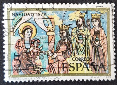 Natividad España 1977 adoración de los reyes