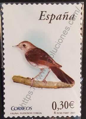 Ruiseñor común estampilla España 2007