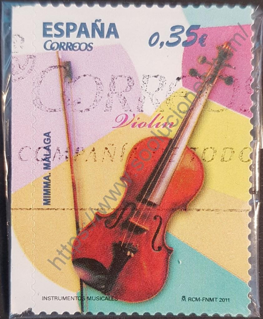 Sello España 2011 violín - instrumentos musicales