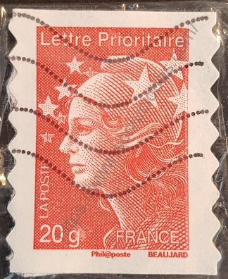 Sello Francia 2011 M. Beaujard lettre prioritarie