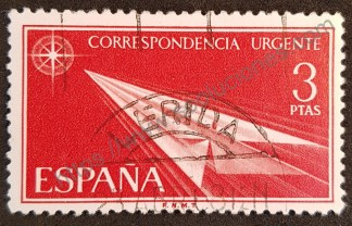 sello españa 1965 avion papel