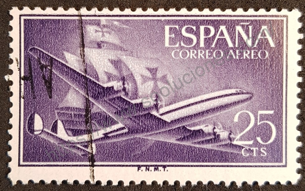 Sello España 1955 Avión Superconstellation