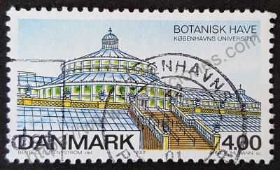 Estampilla Dinamarca 2001 J.Botánico