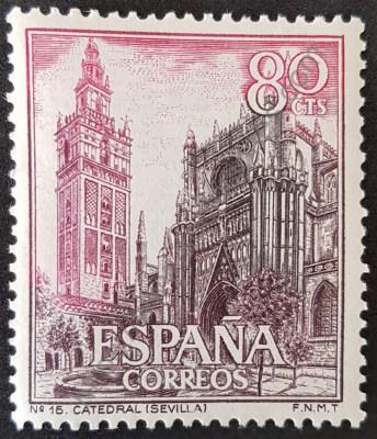 Catedral de Sevilla Estampilla 1965 serie turismo
