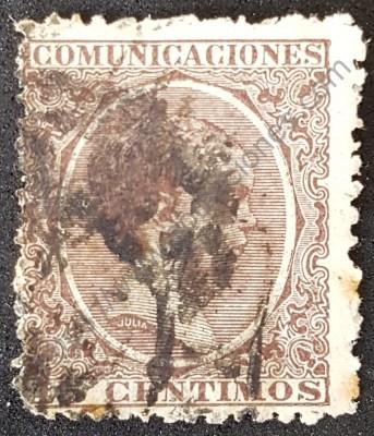 Sello España 1889 Alfonso XIII valor 15 céntimos
