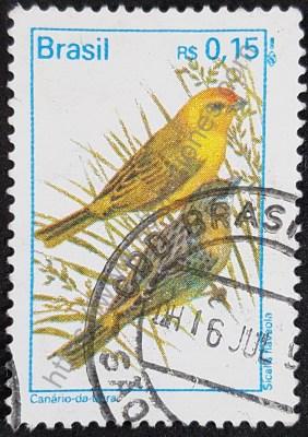 Canario de Tierra Estampilla Brasil 1995