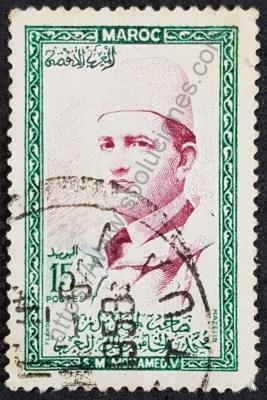 Estampilla Mohammed V Marruecos 1956