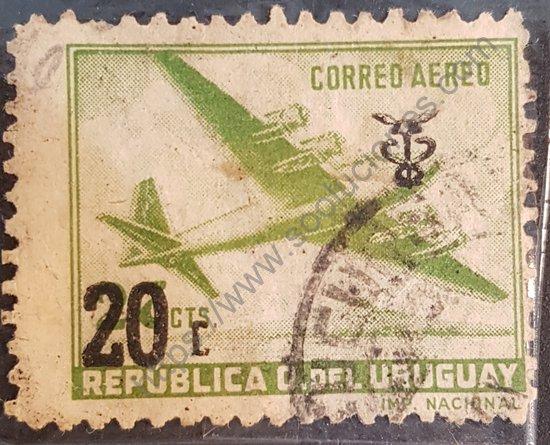 Sello: Uruguay 1960 Aeroplano Douglas DC-4