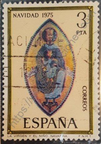 Sello España 1975 Virgen y Niño (Navidad)