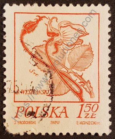 Estampilla de Polonia Stanislaw Wyspianski año 1974