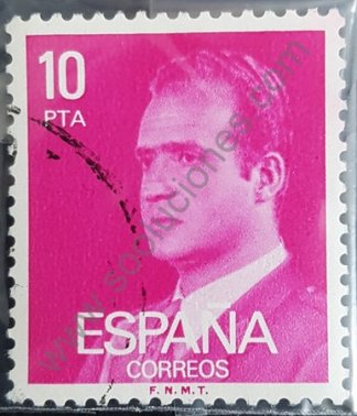 Sello España 1977 Rey Juan Carlos Valor 10 pta.