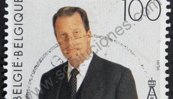 Sello de Rey Alberto II de Bélgica año 1994