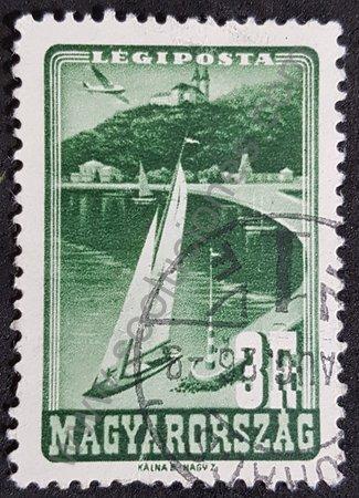 Sello Hungría 1947 Lago Balaton