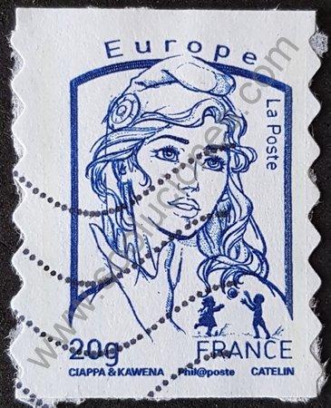 Sello Francia 2013 Marianne de Ciappa y Kawena