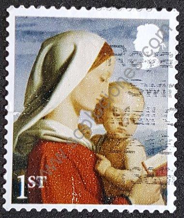 Sello Reino Unido 2017 Virgen y niño de William Dyce