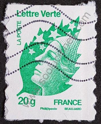 Sello Francia 2011 20 g Marianne Beaujard – Lettre Verte