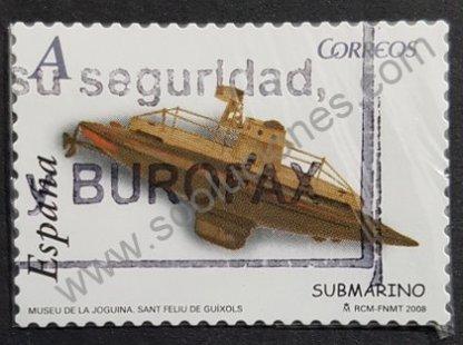 Sello España 2008 Submarino de Juguete Valor facial «A»