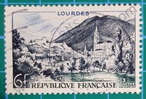 Sellos Francia 1954 Lourdes serie turismo