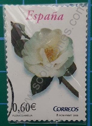 Sello España 2008 Camelia Valor facial 0,60 €