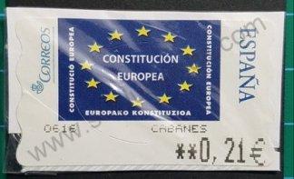 Etiqueta ATM Constitución Europea – estrellas